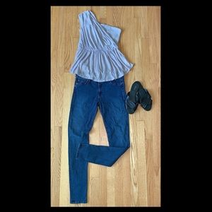 """EUC 7 FOR ALL MANKIND """"THE SKINNY"""" JEANS size 30"""